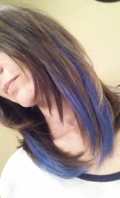 love blue hair